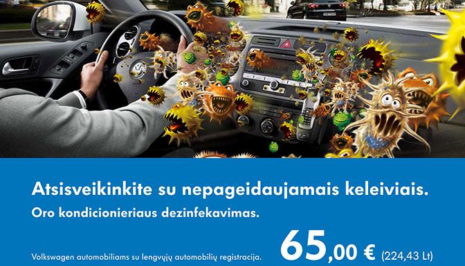 Volkswagen centras Vilniuje - akcija kondicionieriams