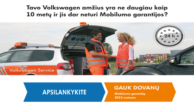Volkswagen centras Vilniuje - akcija